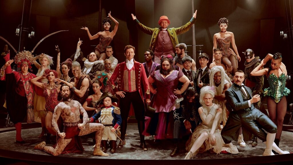 i membri del circo di The greatest showman